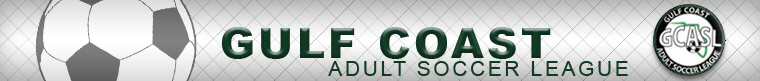 Gulf Coast Adult Soccer League banner
